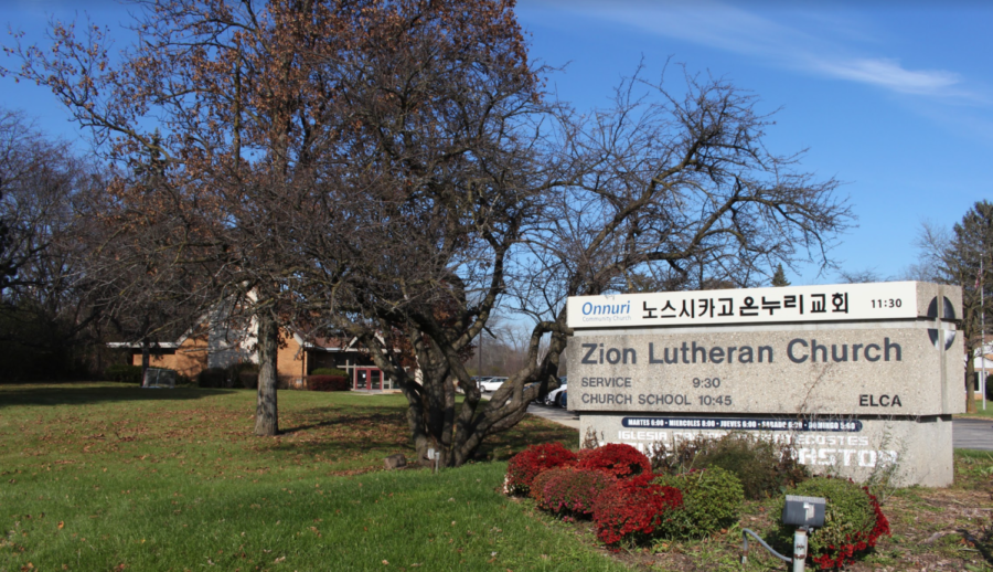 The property of Zion Lutheran Church next to where low-income housing is planned.