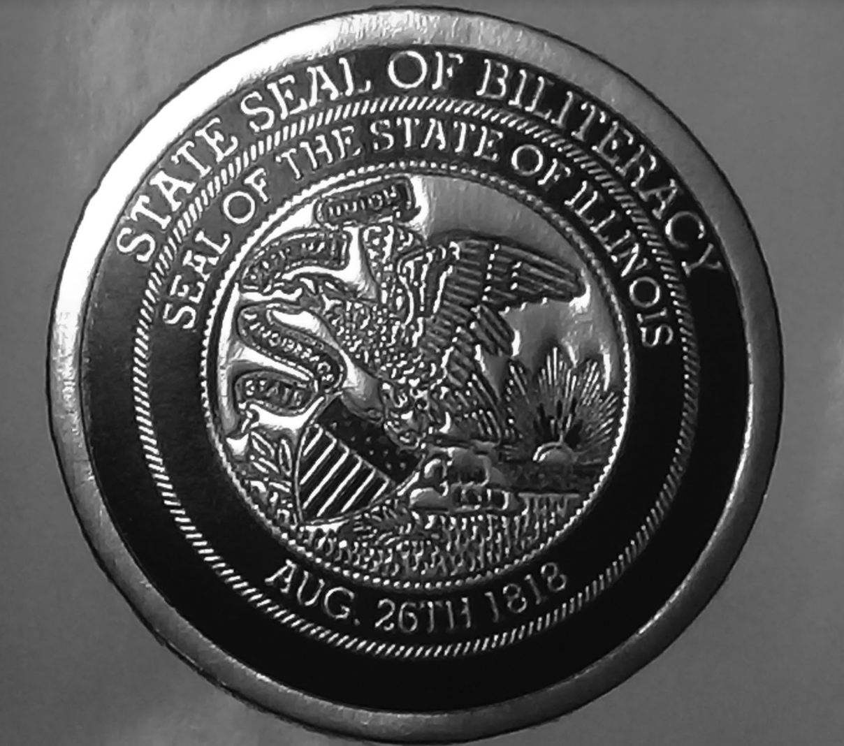 The Seal of Biliteracy that many DHS students were able to earn.